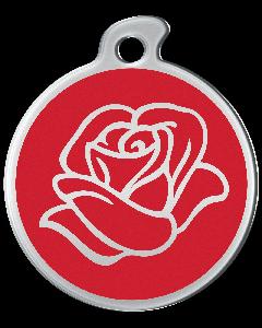 """Misstoro Tiermarke mit Emaille, """"Rose"""", Rot, klein"""