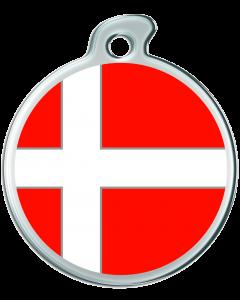 """Misstoro Hundemarke mit Emaille, """"Dänemark"""", groß"""