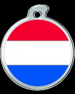 """Misstoro Hundemarke mit Emaille, """"Niederlande"""", groß"""