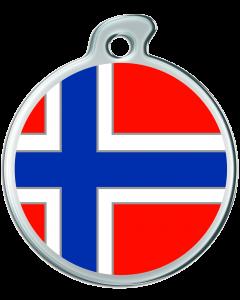 """Misstoro Hundemarke mit Emaille, """"Norwegen"""", groß"""