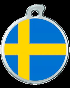 """Misstoro Hundemarke mit Emaille, """"Schweden"""", groß"""