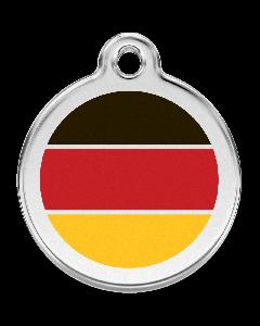 """RedDingo Hundemarke mit Emaille, """"Deutschland"""", groß"""