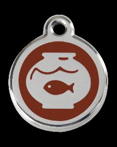 """RedDingo Tiermarke mit Emaille, """"Aquarium"""", Braun, klein"""