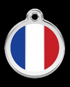 """RedDingo Hundemarke mit Emaille, """"Frankreich"""", groß"""