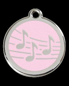 """RedDingo Tiermarke mit Emaille, """"Musik"""", Rosa, klein"""