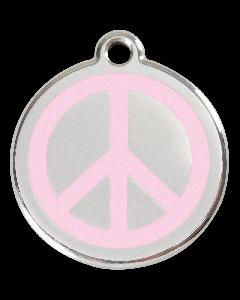 "RedDingo Tiermarke mit Emaille, ""Peace"", Rosa, klein"