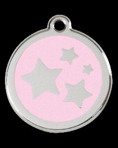 """RedDingo Tiermarke mit Emaille, """"Sterne"""", Rosa, klein"""