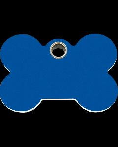 """RedDingo Hundemarke aus Kunststoff, """"Knochen"""", Blau, groß"""