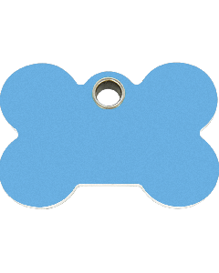 "RedDingo Hundemarke aus Kunststoff, ""Knochen"", Hellblau, medium"