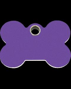 """RedDingo Hundemarke aus Kunststoff, """"Knochen"""", Violett, medium"""
