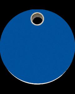 """RedDingo Hundemarke aus Kunststoff, """"Kreis"""", Blau, groß"""