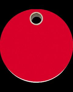 """RedDingo Hundemarke aus Kunststoff, """"Kreis"""", Rot, groß"""