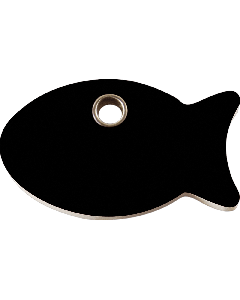 """RedDingo Tiermarke aus Kunststoff, """"Fisch"""", Schwarz, klein"""