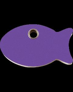 """RedDingo Tiermarke aus Kunststoff, """"Fisch"""", Violett, klein"""