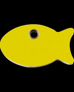 """RedDingo Tiermarke aus Kunststoff, """"Fisch"""", Gelb, klein"""