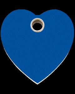 "RedDingo Hundemarke aus Kunststoff, ""Herz"", Blau, groß"