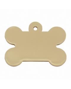 """Tagiffany Hundemarke, vergoldet 'Chunky Bone', """"Knochen"""", medium/groß"""