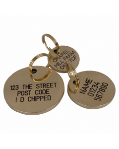 "Tagiffany Hundemarke aus Messing 'Chunky Brass', ""Kreis"", medium"