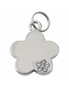 "Tagiffany Hundemarke, verchromt 'My Precious', ""Blume"", Silber, medium/groß"
