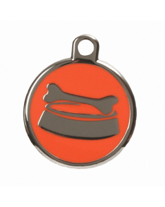 "BowWowMeow Hundemarke 'Design', ""Futternapf"", Orange, medium"