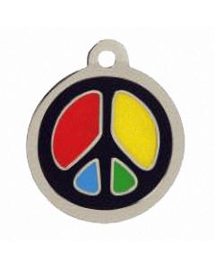 "BowWowMeow Hundemarke 'Design', ""Peace"", Schwarz, medium"