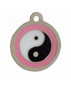 "BowWowMeow Hundemarke 'Design', ""Ying und Yang"", Rosa, medium"