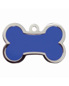 "BowWowMeow Hundemarke 'Fashion', ""Knochen"", Blau, groß"