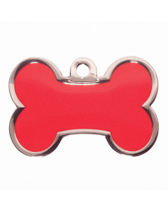 "BowWowMeow Tiermarke 'Fashion', ""Knochen"", Rot, klein/medium"