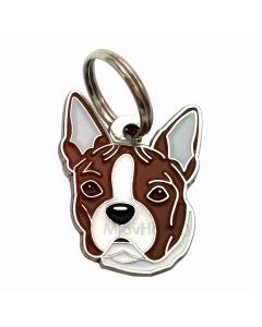 """Handbemalte Hundemarke, """"Boston Terrier gestromt"""""""
