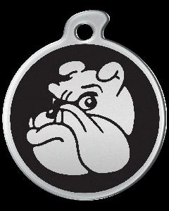 """Misstoro Hundemarke mit Emaille, """"Bulldogge"""", Schwarz, medium"""