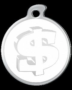 """Misstoro Tiermarke mit Emaille, """"Dollar"""", Weiß, klein"""