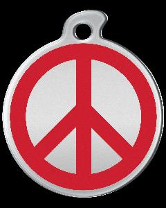 """Misstoro Tiermarke mit Emaille, """"Peace"""", Rot, klein"""