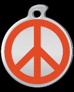 """Misstoro Hundemarke mit Emaille, """"Peace"""", Orange, groß"""
