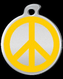 """Misstoro Tiermarke mit Emaille, """"Peace"""", Gelb, klein"""