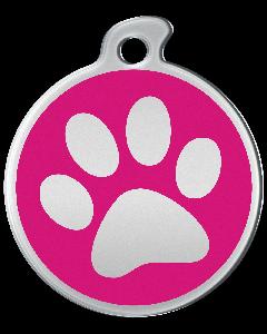 """Misstoro Hundemarke mit Emaille, """"Pfote"""", Pink, groß"""