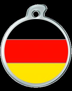 """Misstoro Hundemarke mit Emaille, """"Deutschland"""", medium"""
