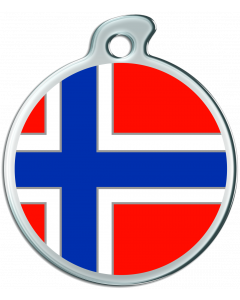 """Misstoro Hundemarke mit Emaille, """"Norwegen"""", medium"""
