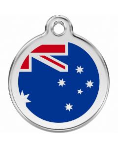 """RedDingo Hundemarke mit Emaille, """"Australien"""", medium"""