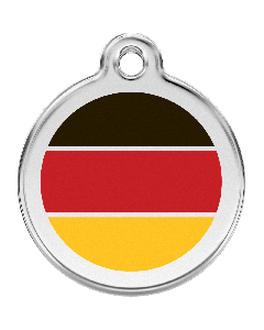 """RedDingo Hundemarke mit Emaille, """"Deutschland"""", medium"""