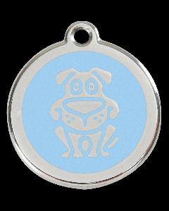 """RedDingo Hundemarke mit Emaille, """"Hund"""", Hellblau, medium"""