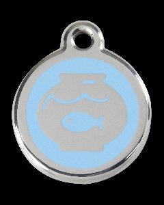 "RedDingo Tiermarke mit Emaille, ""Aquarium"", Hellblau, klein"