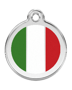 "RedDingo Hundemarke mit Emaille, ""Italien"", medium"