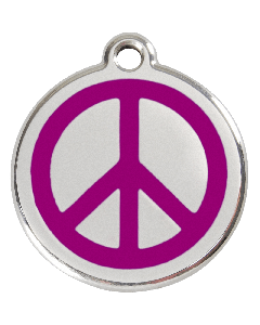 """RedDingo Tiermarke mit Emaille, """"Peace"""", Violett, klein"""