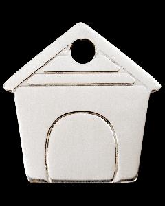 """RedDingo Tiermarke aus Edelstahl, """"Hundehütte"""", klein"""