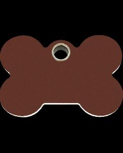 "RedDingo Hundemarke aus Kunststoff, ""Knochen"", Braun, medium"