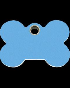 """RedDingo Tiermarke aus Kunststoff, """"Knochen"""", Hellblau, klein"""