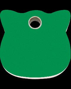 """RedDingo Tiermarke aus Kunststoff, """"Katze"""", Grün, klein"""