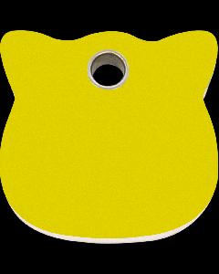 """RedDingo Tiermarke aus Kunststoff, """"Katze"""", Gelb, klein"""