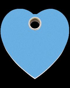 """RedDingo Tiermarke aus Kunststoff, """"Herz"""", Hellblau, klein"""