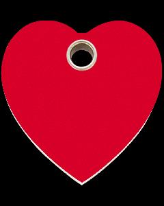 """RedDingo Tiermarke aus Kunststoff, """"Herz"""", Rot, klein"""